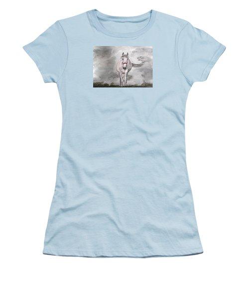 Grey On Grey Women's T-Shirt (Junior Cut) by Carole Robins