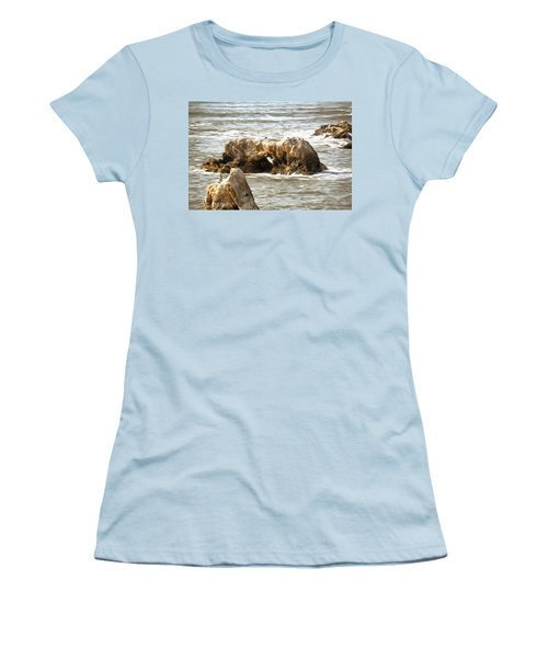 Women's T-Shirt (Junior Cut) featuring the photograph Grey Water At Window Rock by Barbara Snyder