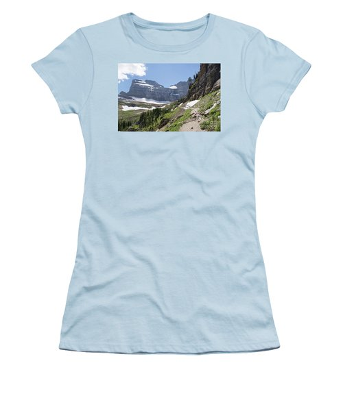 Grinnell Glacier Trail - Glacier National Park Women's T-Shirt (Athletic Fit)