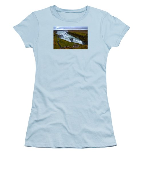 Gullfoss Waterfall #2 - Iceland Women's T-Shirt (Athletic Fit)
