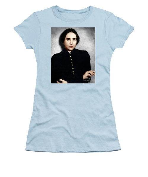 Women's T-Shirt (Athletic Fit) featuring the photograph Hannah Arendt by Granger