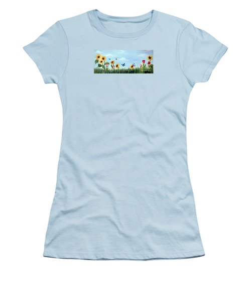 Happy Garden Women's T-Shirt (Junior Cut) by Carol Sweetwood