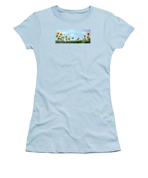 Happy Garden Women's T-Shirt (Athletic Fit)