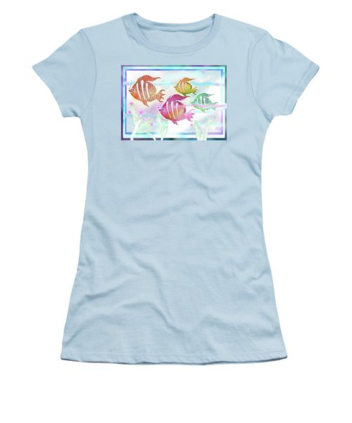 Happiness Is A Clean Ocean  Women's T-Shirt (Athletic Fit)
