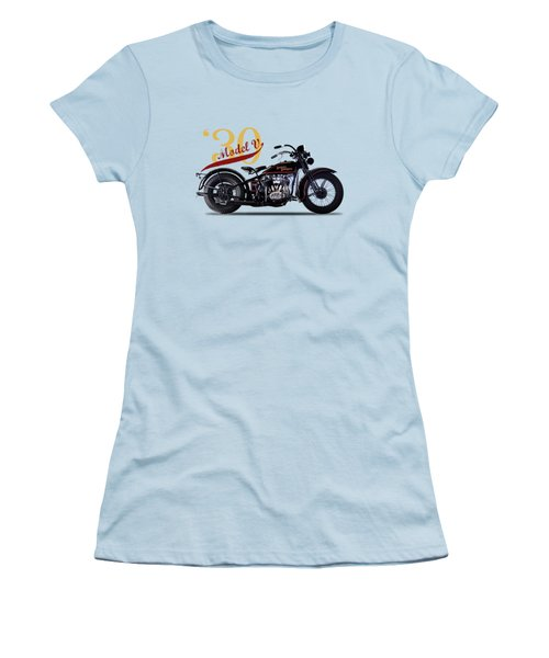 Harley-davidson Model V 1930 Women's T-Shirt (Junior Cut) by Mark Rogan