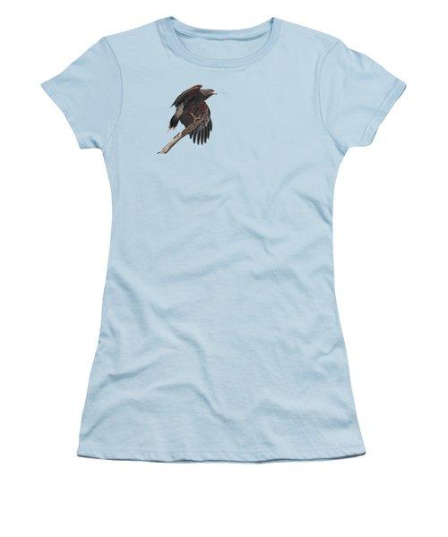 Harris Hawk - Transparent 2 Women's T-Shirt (Athletic Fit)