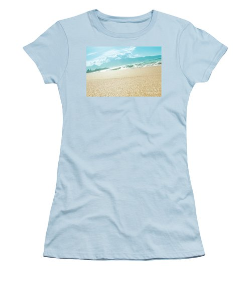 Women's T-Shirt (Athletic Fit) featuring the photograph Hawaii Beach Dreams by Sharon Mau