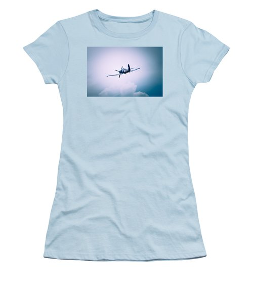 Hawker Sea Fury Fb11 Women's T-Shirt (Junior Cut) by Thomas M Pikolin