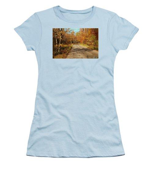 Women's T-Shirt (Junior Cut) featuring the digital art Hazen Notch Summit Road by John Selmer Sr