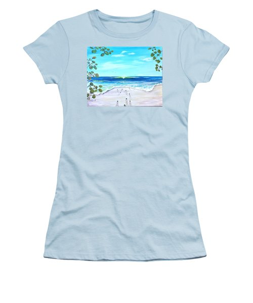 Women's T-Shirt (Junior Cut) featuring the painting Headed Home by Dawn Harrell