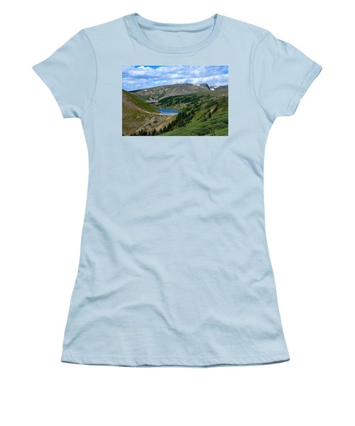 Heart Lake In The Indian Peaks Wilderness Women's T-Shirt (Athletic Fit)