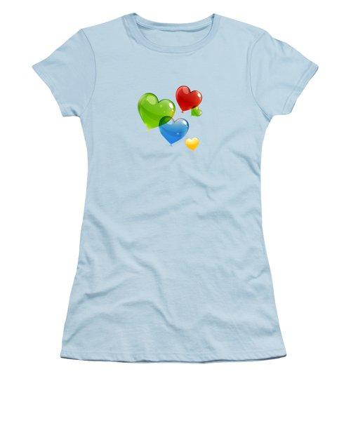 Hearts 11 T-shirt Women's T-Shirt (Junior Cut) by Herb Strobino