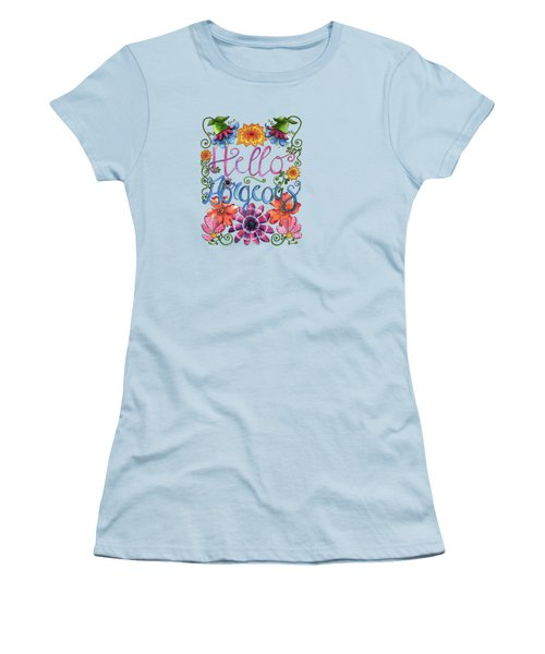 Hello Gorgeous Plus Women's T-Shirt (Junior Cut) by Shelley Wallace Ylst
