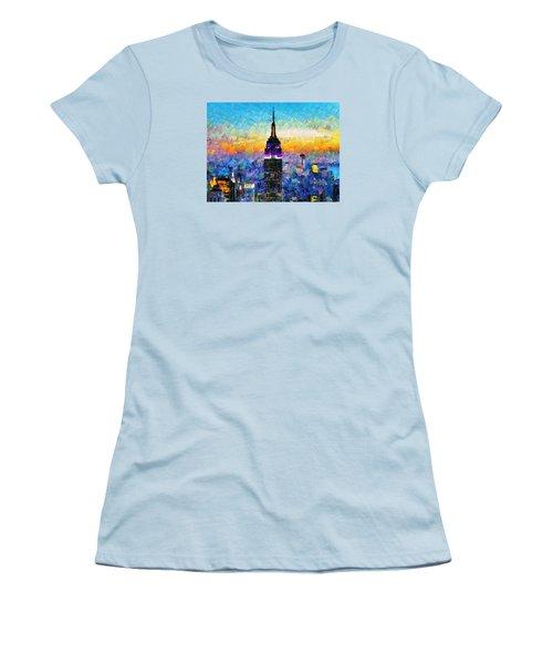 Hello New York Women's T-Shirt (Junior Cut) by Sir Josef - Social Critic -  Maha Art