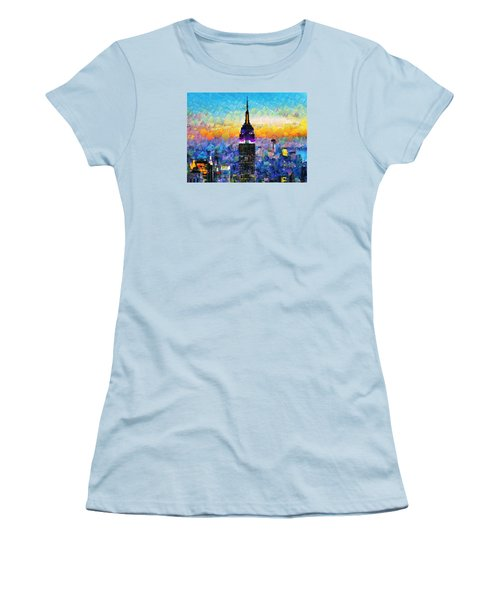 Hello New York Women's T-Shirt (Athletic Fit)