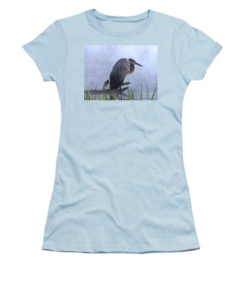 Women's T-Shirt (Junior Cut) featuring the photograph Heron 5 by Melissa Stoudt