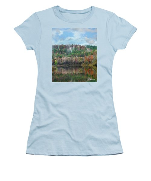 Hickory Forest Women's T-Shirt (Junior Cut) by Tim Fitzharris