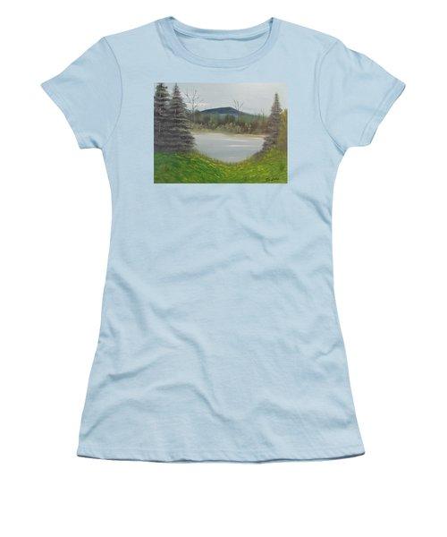 Hidden Pond  Women's T-Shirt (Athletic Fit)