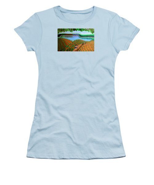 Hidden Water From Above Women's T-Shirt (Junior Cut) by Lorna Maza