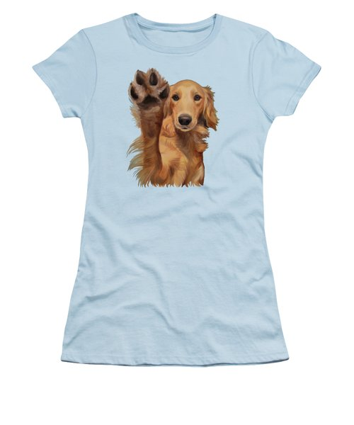 Women's T-Shirt (Junior Cut) featuring the painting High Five by Jindra Noewi