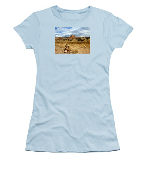 Women's T-Shirt (Junior Cut) featuring the photograph Hiking Ghost Ranch New Mexico by Kurt Van Wagner