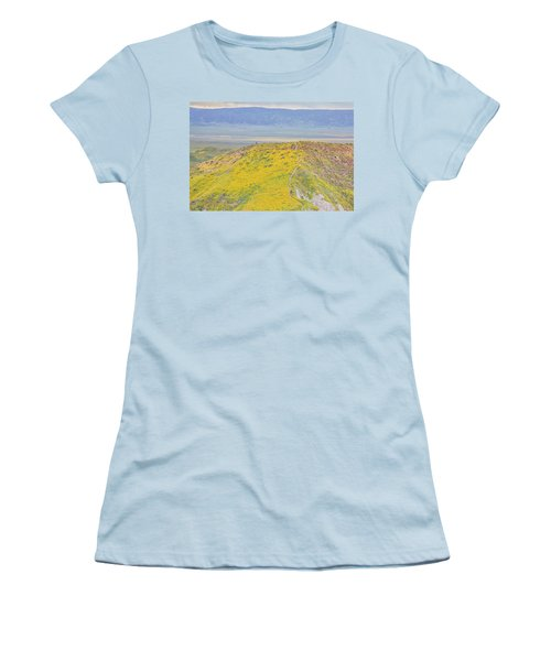 Women's T-Shirt (Junior Cut) featuring the photograph Hiking The Temblor by Marc Crumpler