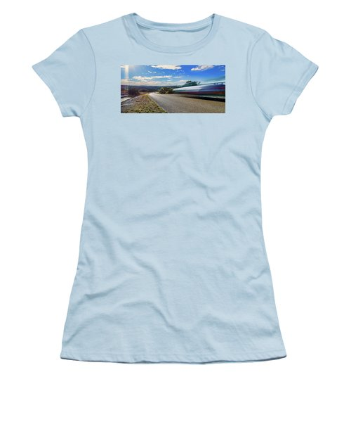 Hill Country Back Road Long Exposure Women's T-Shirt (Athletic Fit)