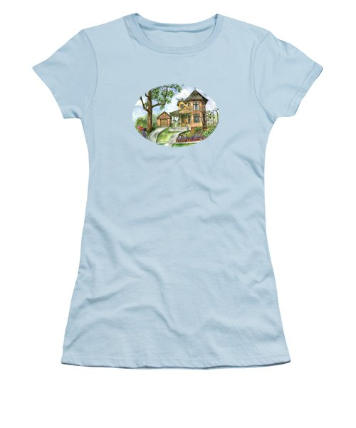 Hilltop Home Women's T-Shirt (Junior Cut) by Shelley Wallace Ylst
