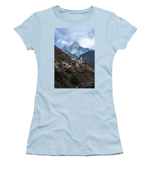 Women's T-Shirt (Junior Cut) featuring the photograph Himalayan Yak Train by Mike Reid