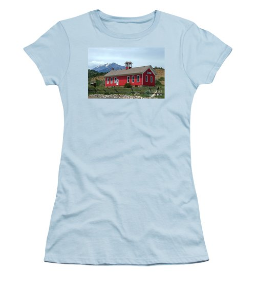 Historic Maysville School In Colorado Women's T-Shirt (Junior Cut) by Catherine Sherman