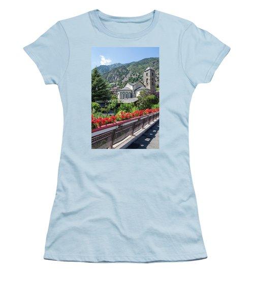 Historic Town Of Andorra La Vella Women's T-Shirt (Junior Cut) by GoodMood Art