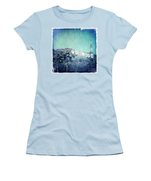 Hollywood Sign Women's T-Shirt (Junior Cut) by Nina Prommer