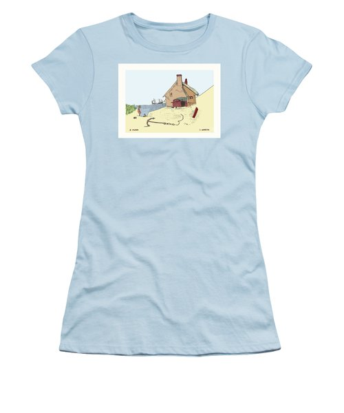 Home By The Sea Women's T-Shirt (Athletic Fit)
