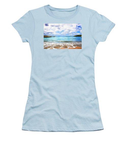 Honduras Beach Women's T-Shirt (Junior Cut) by Marlo Horne