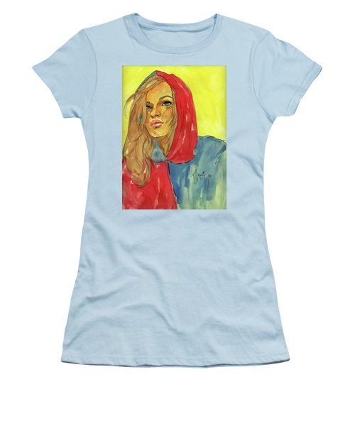 Women's T-Shirt (Junior Cut) featuring the painting Hoody by P J Lewis