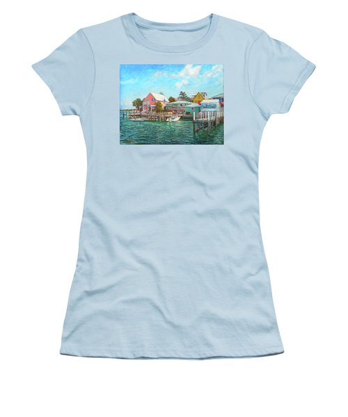 Hope Town By The Sea Women's T-Shirt (Athletic Fit)