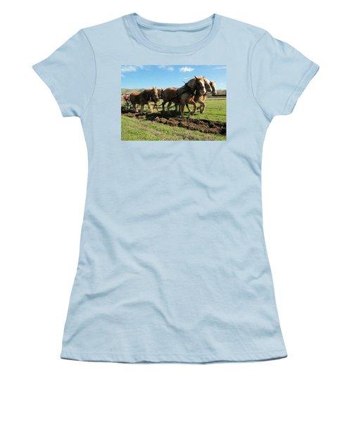 Women's T-Shirt (Junior Cut) featuring the photograph Horse Power by Jeff Swan