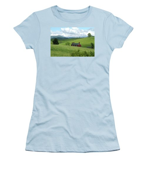 House In The Hills Women's T-Shirt (Junior Cut) by Emanuel Tanjala