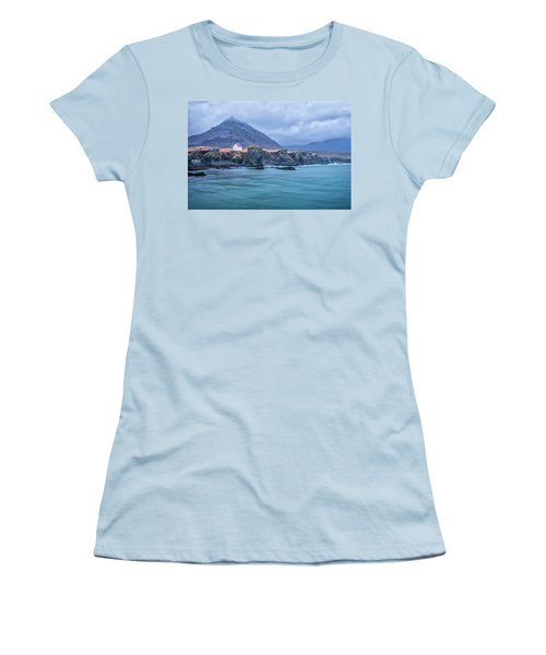 House On Ocean Cliff In Iceland Women's T-Shirt (Junior Cut) by Joe Belanger