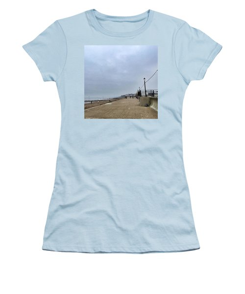 Hunstanton At 4pm Yesterday As The Women's T-Shirt (Junior Cut) by John Edwards