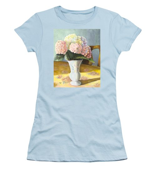 Hydrangeas Women's T-Shirt (Junior Cut) by Marlene Book