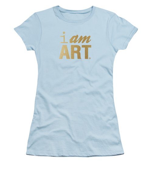 I Am Art- Gold Women's T-Shirt (Junior Cut) by Linda Woods