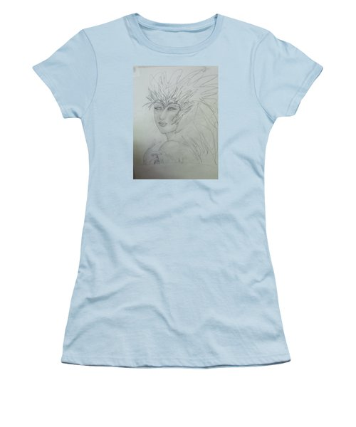 Women's T-Shirt (Junior Cut) featuring the drawing I Am The Phoenix by Sharyn Winters