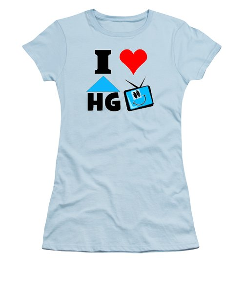 Women's T-Shirt (Junior Cut) featuring the drawing I Love Hgtv T-shirt by Kathy Kelly