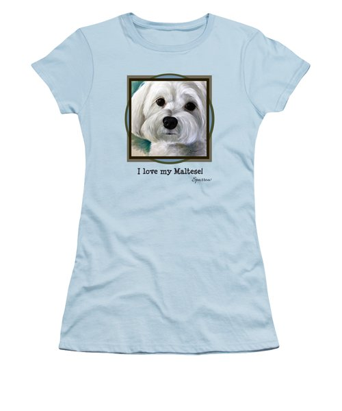 I Love My Maltese Women's T-Shirt (Athletic Fit)