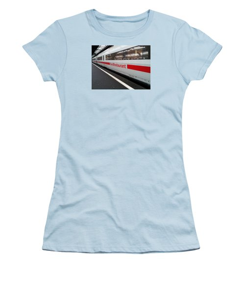 Ice Bord Restaurant At Zurich Mainstation Women's T-Shirt (Junior Cut) by Ernst Dittmar