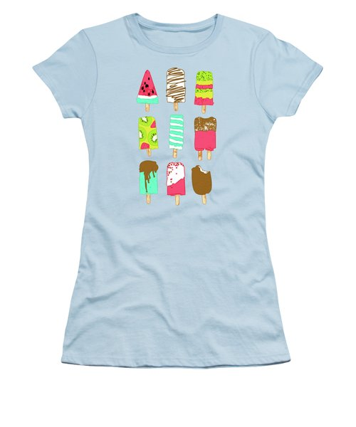Ice Cream Time Women's T-Shirt (Athletic Fit)