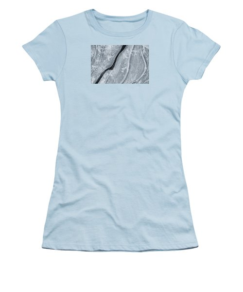 Ice Pattern Women's T-Shirt (Athletic Fit)