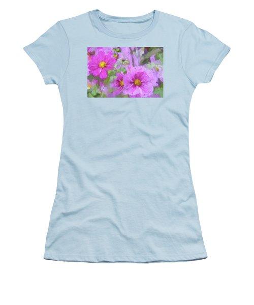 Impasto Cosmos Women's T-Shirt (Junior Cut) by Bonnie Bruno