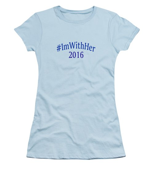 Imwithher Women's T-Shirt (Junior Cut) by Bill Owen
